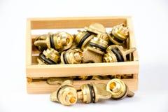 Brass valves Royalty Free Stock Photography