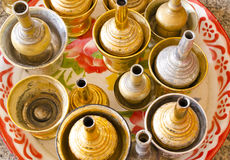Brass vases Royalty Free Stock Photos