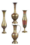 Brass vases Royalty Free Stock Images