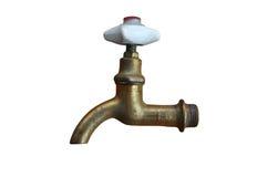 Brass water crane Stock Image