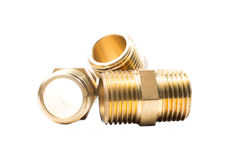 Brass water-pipe Stock Images