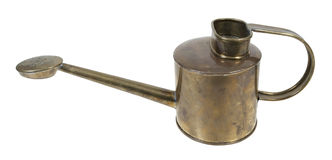 Brass Watering Can Royalty Free Stock Images