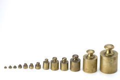 Brass weights Royalty Free Stock Photo