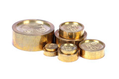 Brass weights Royalty Free Stock Images