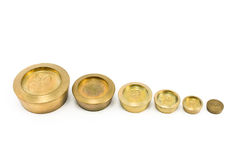 Free Brass Weights Of Different Size Stock Image - 24338441