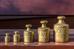Brass weights Royalty Free Stock Photos