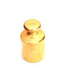 Brass weights to scales Royalty Free Stock Photo