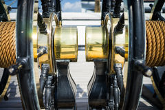 Brass wheels Royalty Free Stock Photography