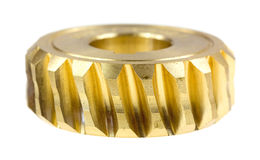 Brass worm gear Royalty Free Stock Photography