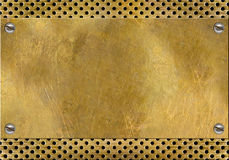 Brass yellow metal. Can use as background Royalty Free Stock Photo