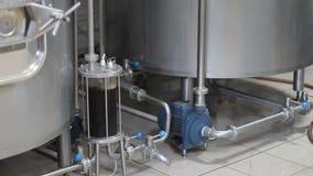 Brassage de bière de métier Filtration de bière brassée Équipement de brassage dans l'action Réservoirs pour le brassage banque de vidéos