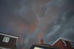 Brassage de nuages de tempête Images stock