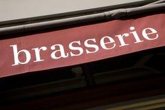 brasserie σημάδι Στοκ εικόνα με δικαίωμα ελεύθερης χρήσης