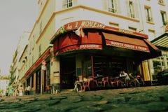 Brasserie för Des 2 Moulins i Paris Amelie färgpalett Royaltyfri Fotografi