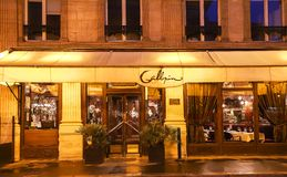 The brasserie Gallopin , set opposite Palais Brongniart in Paris, France, is a genuine institution founded in 1876 by a Mr. Paris, France-January 12, 2019 :The stock images