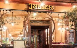 Brasserie Julien is historical monument of Paris .It was founded in 1903. Paris, France-January 28, 2018 :Located right in the heart of Paris, a stone s throw Royalty Free Stock Images