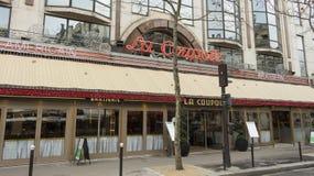 The brasserie La Coupole, Paris; France. Paris; France-January 02, 2016: The brasserie La Coupole is one of the most famous Parisian brasseries.There were often Royalty Free Stock Photos
