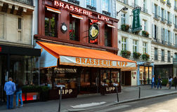 The brasserie Lipp is a famous establishment on the boulevard Saint Germain in Paris, France. Royalty Free Stock Photos