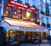 The brasserie Lipp, Paris, France. Royalty Free Stock Image