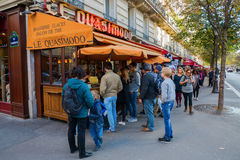 Brasserie near Notre Dame in Paris, France Stock Photography