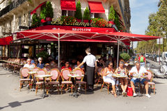Brasserie in Paris Royalty Free Stock Image
