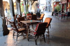 Brasserie terrace in France Royalty Free Stock Images