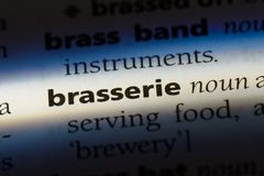 Brasserie. Word in a dictionary.  concept Royalty Free Stock Photography