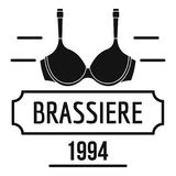 Brassiere logo, simple black style Royalty Free Stock Photography