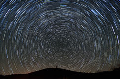 Brasstown Bald and Star Trails Royalty Free Stock Photo
