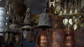 Brassware for Sale at Street Flea Market in Nepal, Kathmandu