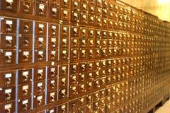 Brassy karciany katalog przeszłość Obraz Stock