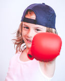 Brat child fighter Royalty Free Stock Photos