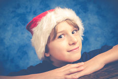 Brat. Little boy at christmas time Royalty Free Stock Images