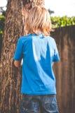 Brat little boy - rebuke Stock Image