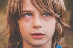 Brat little boy - thinking Royalty Free Stock Photos