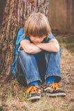 Brat little boy - thinking Royalty Free Stock Images