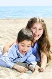 brat plażowa siostra Zdjęcie Royalty Free