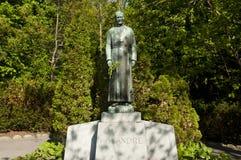 Brata Andre statua Montreal, Kanada przy krasomówstwem - Fotografia Stock