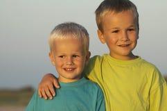 brata dwa słońca Fotografia Stock