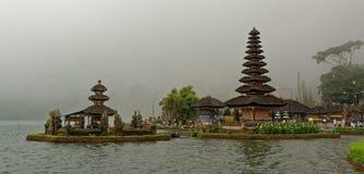 Bratan寺庙在巴厘岛 库存图片