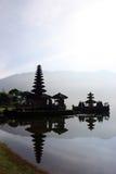 Bratan Lake Temple. Pura Ulu Danau Temple on the banks of the Bratan Lake in Bali stock images