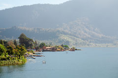 Bratan lake view Bali Indonesia Stock Photos