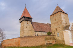 Brateiu fortified church. Brateiu is a commune located in Sibiu County, Romania. It is composed of two villages, Brateiu and Buzd, each of which has a fortified Stock Photo