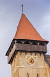 Brateiu fortified church. Brateiu is a commune located in Sibiu County, Romania. It is composed of two villages, Brateiu and Buzd, each of which has a fortified Royalty Free Stock Images