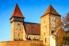 Brateiu fortified church, Transylvania, Romania Royalty Free Stock Photos