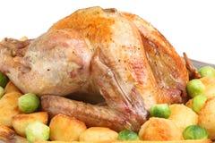 Braten die Türkei mit Gemüse Stockfotos
