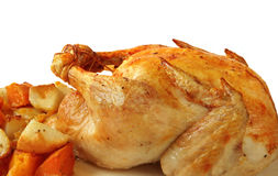Braten-Huhn-Abendessen Lizenzfreie Stockbilder
