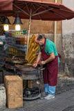 Braten-Kastanien-Verkäufer, Rom Stockbild