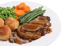 Braten-Lamm-Abendessen Lizenzfreies Stockfoto