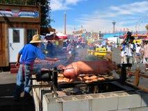 Braten-Schwein, Los Angeles County angemessen, Fairplex, Pomona, Kalifornien lizenzfreie stockfotografie